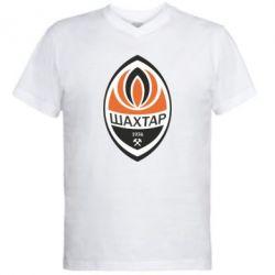 Мужская футболка  с V-образным вырезом ФК Шахтер - FatLine