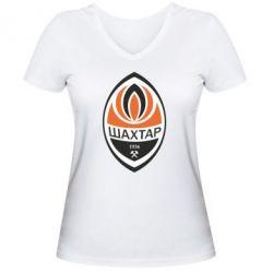 Женская футболка с V-образным вырезом ФК Шахтер - FatLine