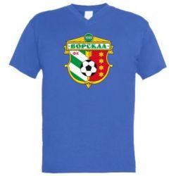 Мужская футболка  с V-образным вырезом ФК Ворскла Полтава - FatLine
