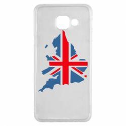 Чехол для Samsung A3 2016 Флаг Англии