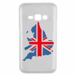 Чехол для Samsung J1 2016 Флаг Англии