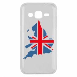 Чехол для Samsung J2 2015 Флаг Англии