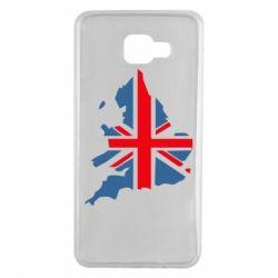 Чехол для Samsung A7 2016 Флаг Англии