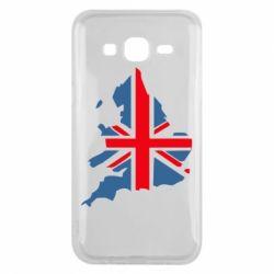 Чехол для Samsung J5 2015 Флаг Англии