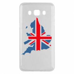 Чехол для Samsung J5 2016 Флаг Англии