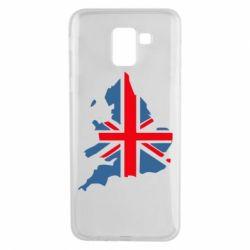 Чехол для Samsung J6 Флаг Англии