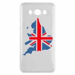 Чехол для Samsung J7 2016 Флаг Англии