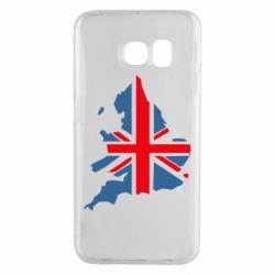 Чехол для Samsung S6 EDGE Флаг Англии