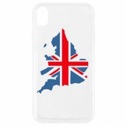 Чехол для iPhone XR Флаг Англии