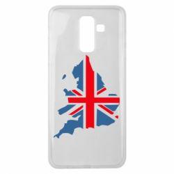 Чехол для Samsung J8 2018 Флаг Англии