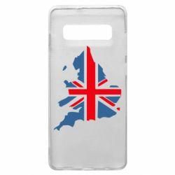 Чехол для Samsung S10+ Флаг Англии