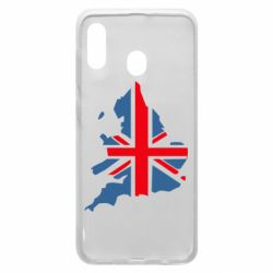 Чехол для Samsung A20 Флаг Англии