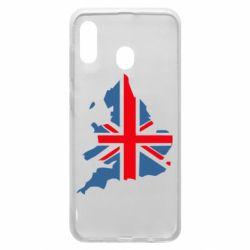 Чехол для Samsung A30 Флаг Англии