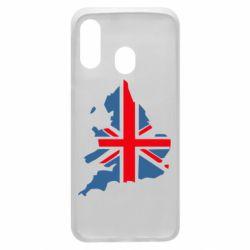 Чехол для Samsung A40 Флаг Англии