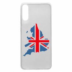 Чехол для Samsung A70 Флаг Англии