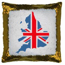 Подушка-хамелеон Флаг Англии