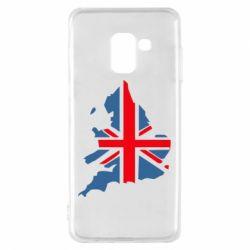 Чехол для Samsung A8 2018 Флаг Англии
