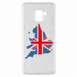 Чехол для Samsung A8+ 2018 Флаг Англии