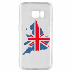 Чехол для Samsung S7 Флаг Англии