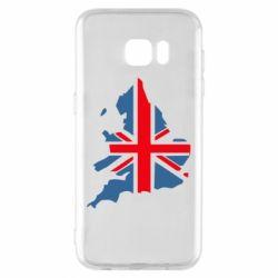Чехол для Samsung S7 EDGE Флаг Англии