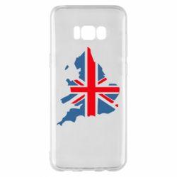 Чехол для Samsung S8+ Флаг Англии