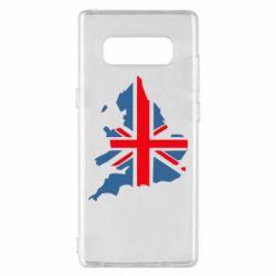 Чехол для Samsung Note 8 Флаг Англии