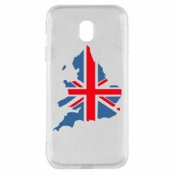 Чехол для Samsung J3 2017 Флаг Англии