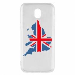 Чехол для Samsung J5 2017 Флаг Англии