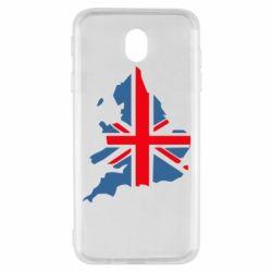Чехол для Samsung J7 2017 Флаг Англии