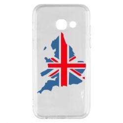 Чехол для Samsung A3 2017 Флаг Англии