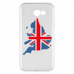 Чехол для Samsung A7 2017 Флаг Англии