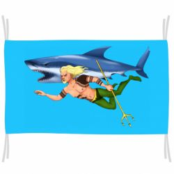 Флаг Aquaman with a shark