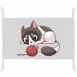 Прапор Cat with a ball