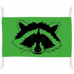 Прапор Cute raccoon face