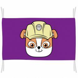 Прапор Dog in helmet