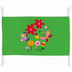 Флаг Flowers and Butterflies