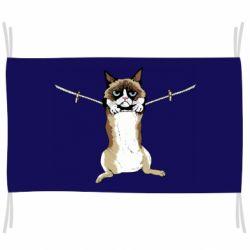 Флаг Grumpy Cat On The Rope