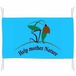 Флаг Help mother Nature Ecology