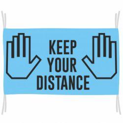Прапор Keep your distance