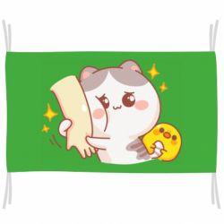 Прапор Кішка тримає руку