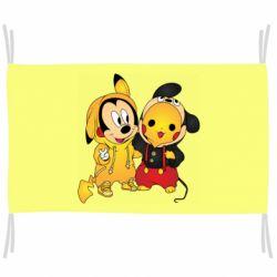 Флаг Mickey and Pikachu