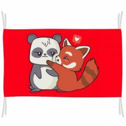 Прапор Panda and fire panda