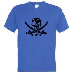 Чоловіча футболка з V-подібним вирізом Flag pirate