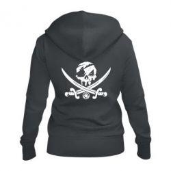 Жіноча толстовка на блискавці Flag pirate