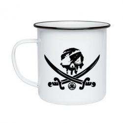 Кружка емальована Flag pirate