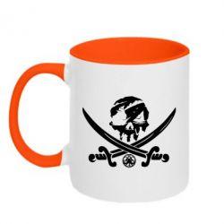 Кружка двоколірна 320ml Flag pirate