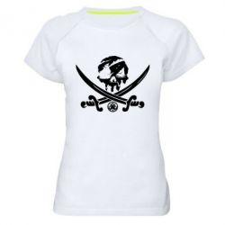 Жіноча спортивна футболка Flag pirate