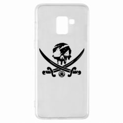 Чохол для Samsung A8+ 2018 Flag pirate