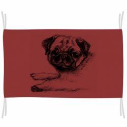 Прапор Pug drawing