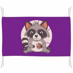 Прапор Raccoon with cookies